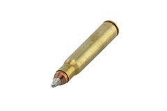 Silver gold hollow point bullet Stock Photos