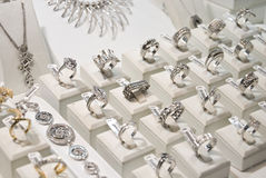 Silver and gold jewellery Royalty Free Stock Image