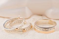 Silver and gold jewelry Royalty Free Stock Image
