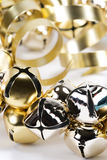 Silver & Gold Jingle Bells Stock Image