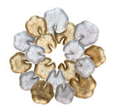 Silver and gold leaf lotus Stock Photo