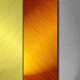 Silver and gold metal Royalty Free Stock Photo