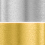 Silver and gold metal textures Stock Images