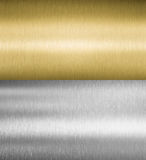 Silver and gold metal textures royalty free stock photography