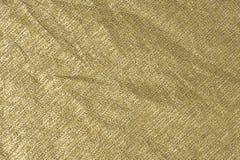 Silver-Gold Metallic Fabric Background Stock Photo