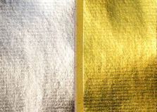 Silver and gold paper pattern Stock Image