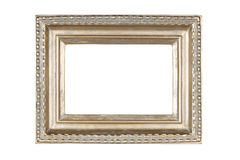 Silver-gold picture frame Stock Photo
