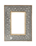 Silver - gold picture frame with clipping path. Picture frame to put pictures in Royalty Free Stock Images