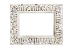 Silver-gold picture frame Royalty Free Stock Photo
