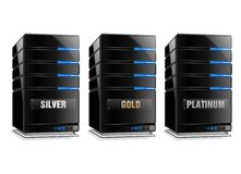 Silver Gold and Platinum Host Stock Photos