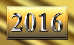 2016 Silver Gold Sign Slide. Year 2016 Silver Gold Sign Slide Royalty Free Stock Images