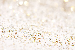 Silver and gold sparkle background Stock Photos