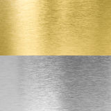 Silver and gold stitched metal textures stock photography