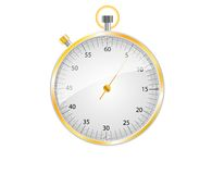Silver and gold stopwatch Stock Photos