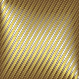 Silver and gold stripes. Diagonal silver and gold striped background stock illustration