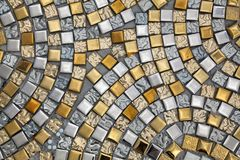 Silver and gold surfaces. royalty free stock images