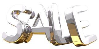 Silver golden 3d rendering symbol sale. Silver golden 3d rendering symbol Stock Photo