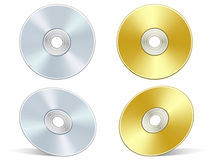 Silver and golden DVD Royalty Free Stock Photos