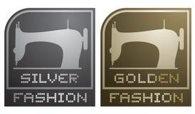 Silver and golden fashion Stock Photos