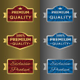 Silver and golden labels Stock Photo