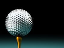 Silver  golf ball Stock Image