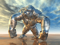 Silver Gorilla Stock Photography