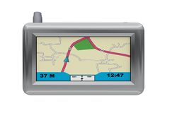 Silver GPS Stock Photography
