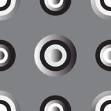 Silver gradient circle buttons Stock Image