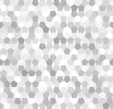 Silver gradient pentagon pattern. Seamless vector background Stock Photography