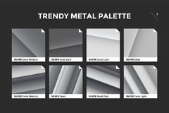 Silver gradient template, vector icon Stock Photo