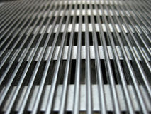 Silver grate perspective Royalty Free Stock Photography