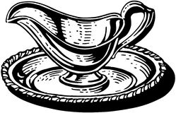 Silver Gravy Boat Royalty Free Stock Photos