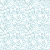 Silver gray abstract mandalas seamless pattern background Royalty Free Stock Photo