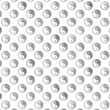 Silver Gray Faux Foil Yin Yang Tao Balance Metallic Chinese Royalty Free Stock Photos