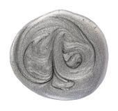 Silver gray nail polish Royalty Free Stock Photo