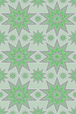 Silver green stars design Stock Photos
