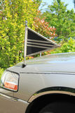 Silver grey hearse detail Royalty Free Stock Photos