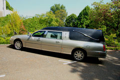 Silver grey hearse Stock Photography