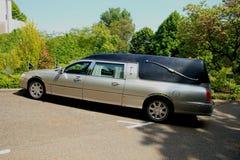 Silver grey hearse Stock Photography