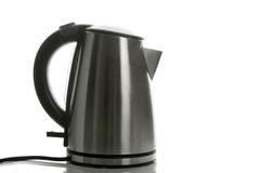 Silver grey kettle Stock Images
