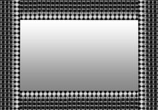 Silver Grey Mesh Border Royalty Free Stock Image