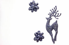 Silver grey reindeer Christmas decoration Stock Image