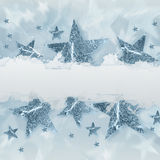 Silver grey stars with text space Royalty Free Stock Photography