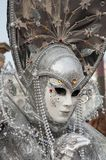 Silver grey Venice Mask Royalty Free Stock Images