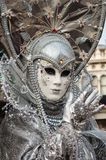 Silver grey Venice Mask Royalty Free Stock Photos