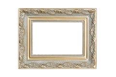 Silver-guld bildram Fotografering för Bildbyråer