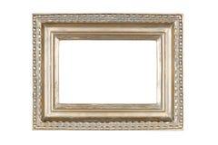 Silver-guld bildram arkivfoto