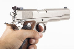 Silver Gun Royalty Free Stock Image