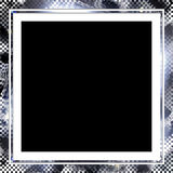 Silver Halftone frame Royalty Free Stock Images
