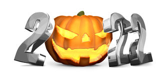 2022 silver Halloween isolated symbol. Illustration graphic Royalty Free Stock Image